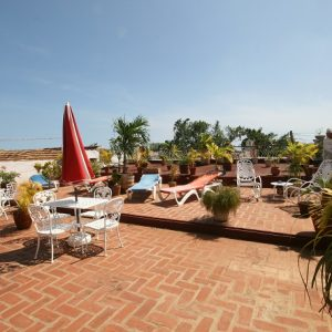 The roof terrace of Casa Buri y Nesti in Trinidad, Cuba