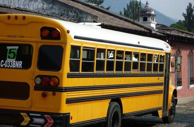 A school bus in Guatemala