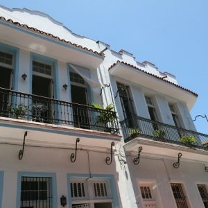 The exterior of Casa Azul Habana in Havana, Cuba