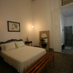 A bedroom at Casa Vitrales, Havana