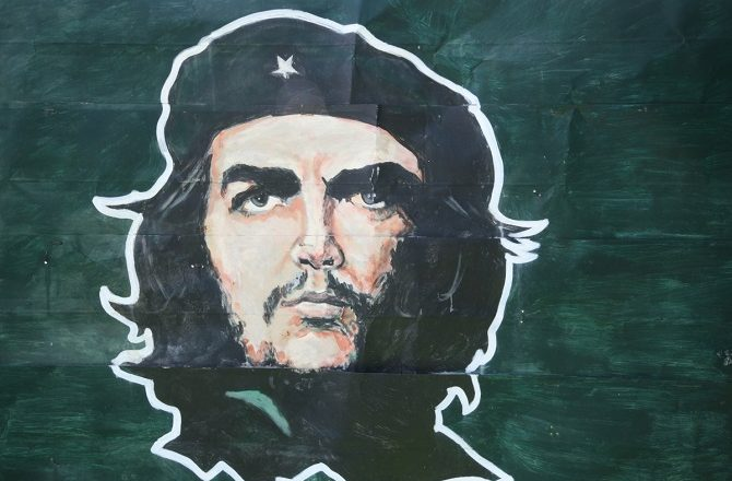 A wall painting of Che Guevara in Vinales, Cuba