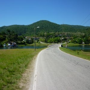 The road to Las Terrazas in Pinar del Rio, Cuba