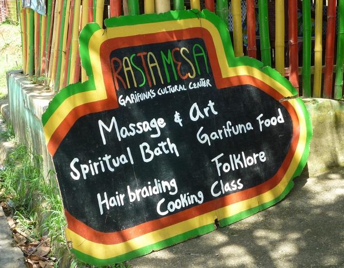 A Garifuna Sign In Livingston, Guatemala