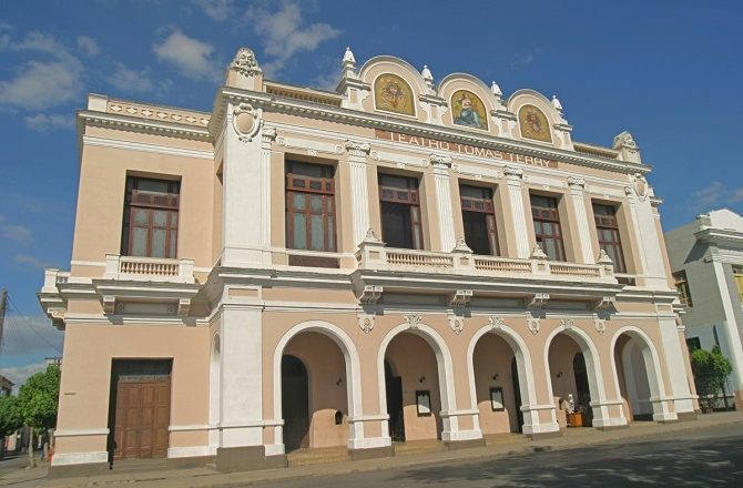 The front of Teatro Tomas Terry in Cienfuegos, Cuba