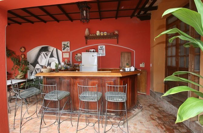 The bar at Casa Maria y Enddy in Trinidad, Cuba