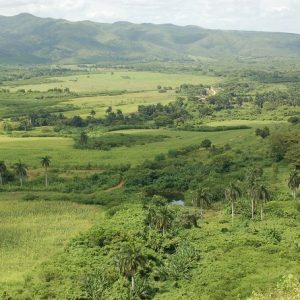 Valley of the Sugar Mills between Trinidad and Sancti Spiritus in Cuba