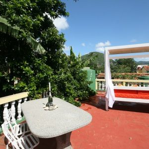 The roof terrace of Villa Cristal, Vinales