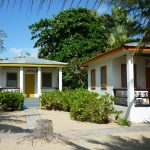 Two of the seaview bungalows at Villa Ranguana in Placencia, Belize