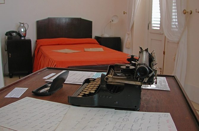Ernest Hemingway's room at the Ambos Mundos hotel in Havana