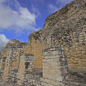 An old wall at Becan in Campeche State