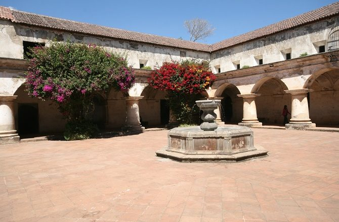 Courtyard at the Capuchinas Convent