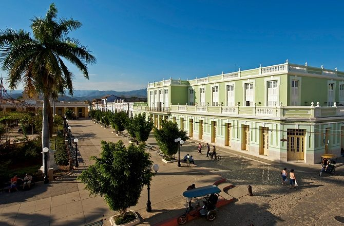 The exterior of the Iberostar Grand in Trinidad, Cuba