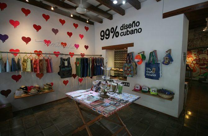 Clandestina designer store in Old Havana, Cuba