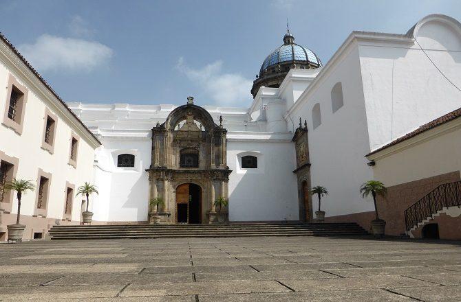 A courtyard in Guatemala City