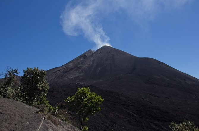The volcano cauldron of Mt Pacaya in Guatemala
