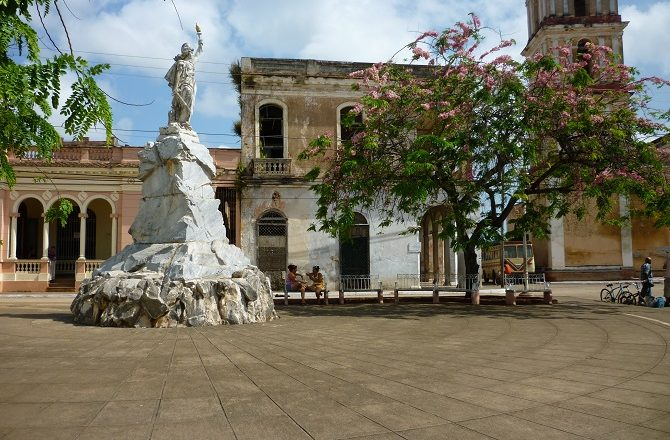 The main square in Remedios, Cuba