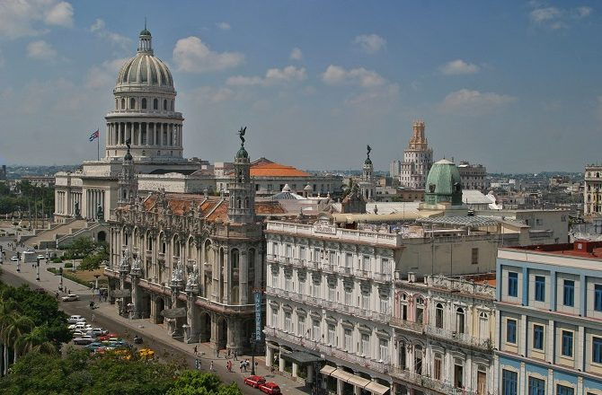 A panoramic view over Old Havana in Cuba