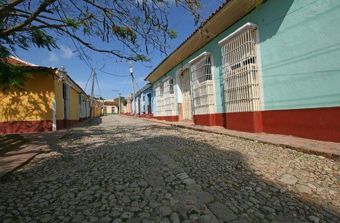 A quiet street in Trinidad, Cuba