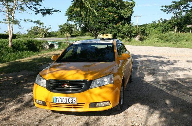 A private transfer vehicle in Cuba