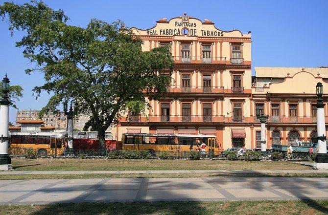 The Partagas Cigar factory in Old Havana