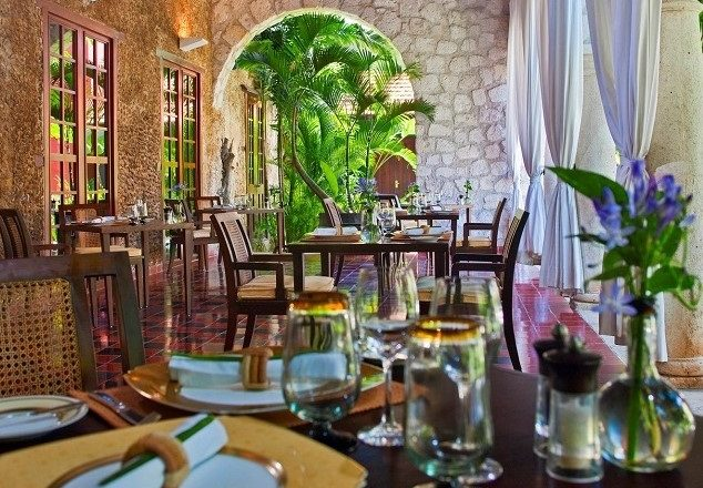 The restaurant at Hotel Puerta Campeche