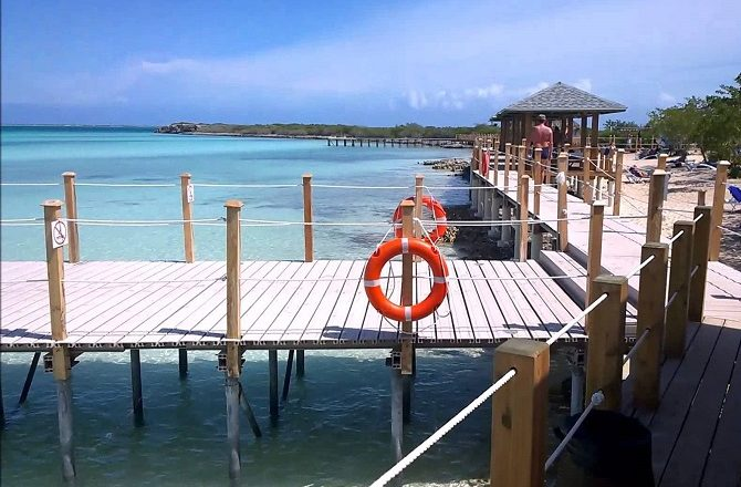 The beach walkway at Iberostar Playa Pilar on Cayo Guillermo