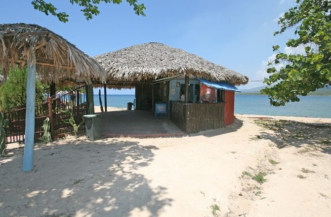 Beach bar at La Boca near Trinidad