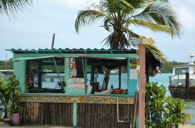 Brenda's food shack in Placencia Village