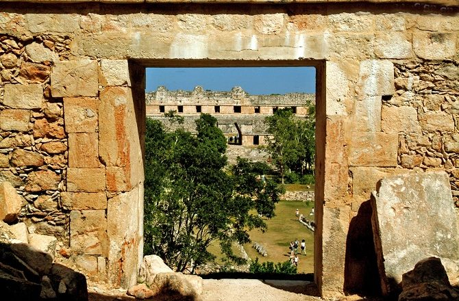 Looking through a door at Uxmal