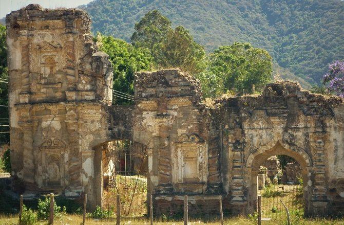 Crumbling ruins in Antigua, Guatemala