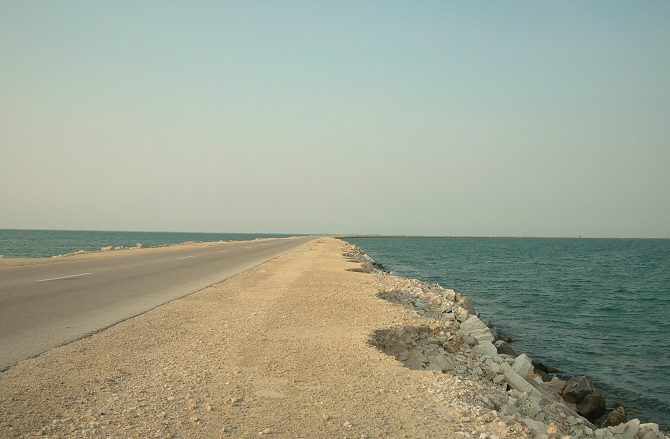 The causeway linking mainland Cuba and Cayo Santa Maria