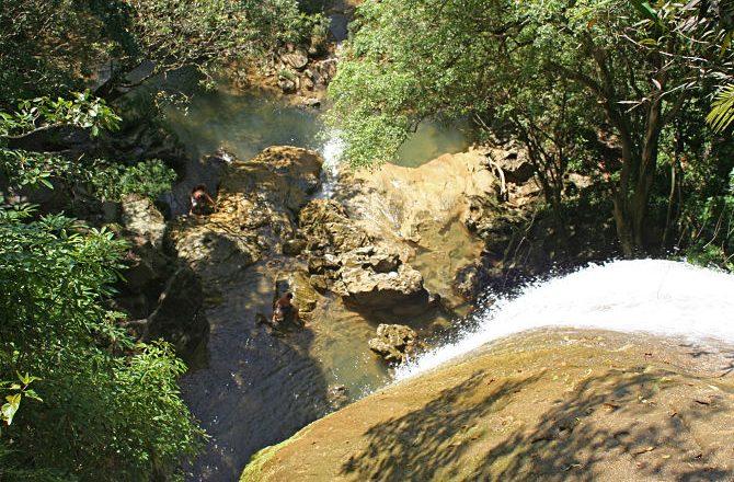 The waterfall in the Soroa Botanical Gardens