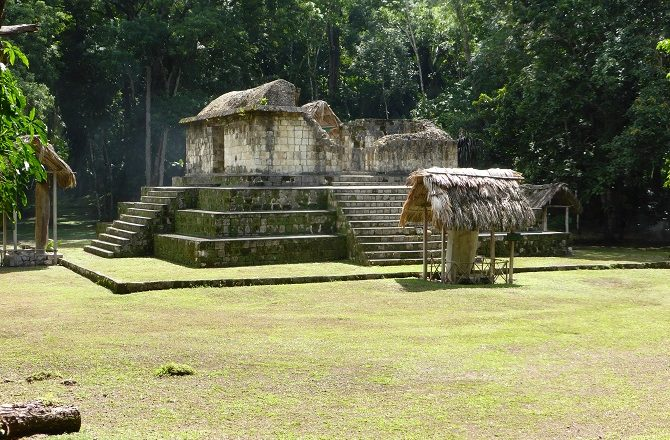 The Mayan ruins of Ceibal are an hour by boat from Sayaxche