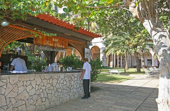 The garden bar at the Hotel Nacional in Havana