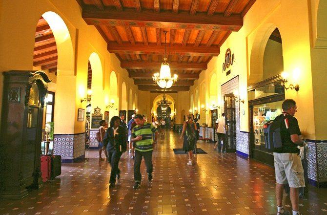 The lobby of the Hotel Nacional in Havana