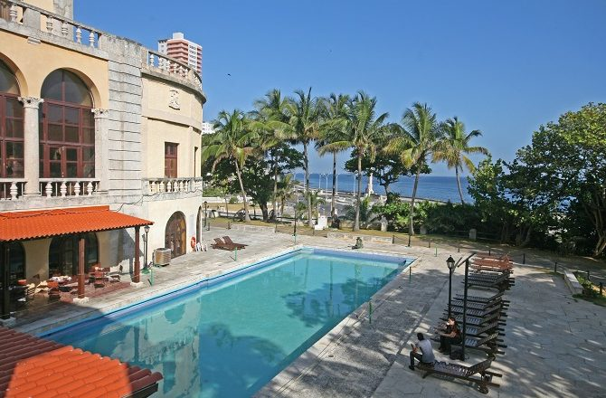 The swimming pool at the Hotel Nacional in Havana