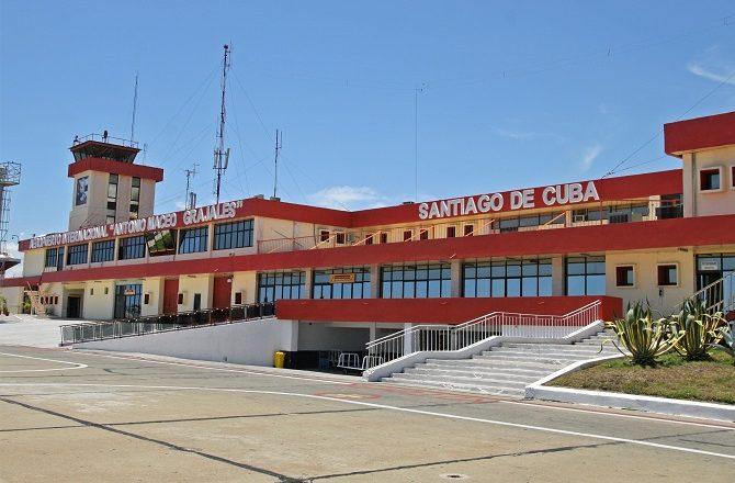 Santiago de Cuba airport in eastern Cuba