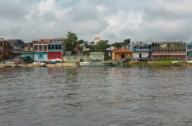 The town of Sayaxche on Pasion River