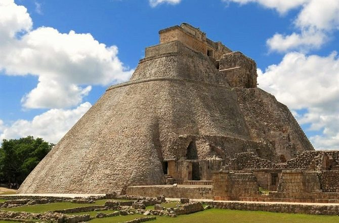 The pyramid of the magician at Uxmal
