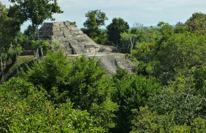 Pyramid at Yaxha in Peten, Guatemala