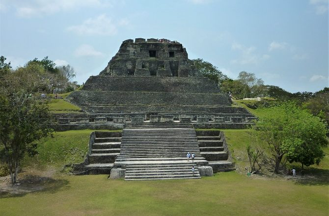 The main pyramid at Xunantunich