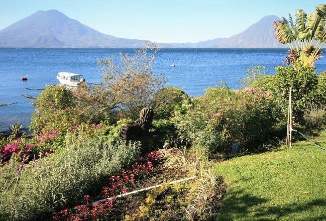 The gardens at Hotel Atitlan