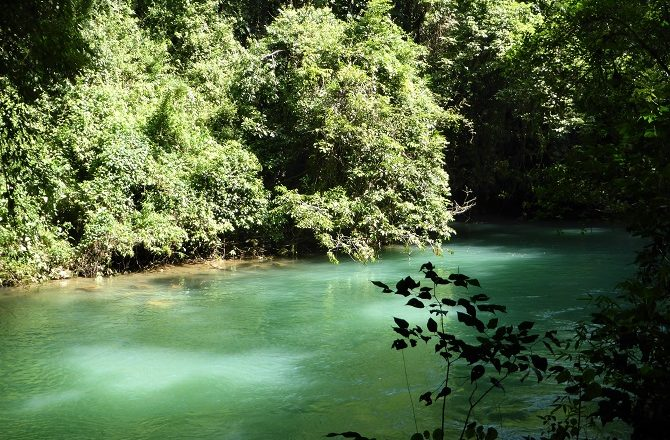 A river near the Lanquin Caves