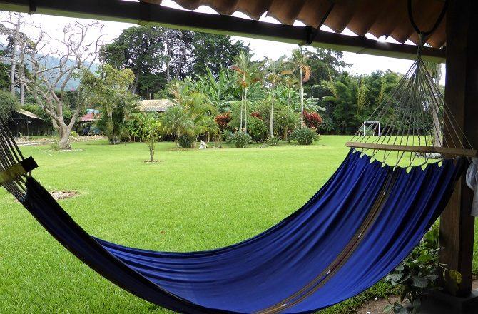 A hammock in the garden at Posada de don Rodrigo