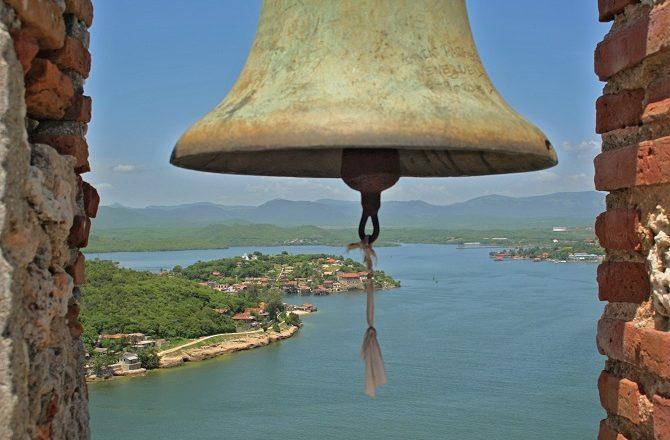 View from the Morro Castle in Santiago de Cuba