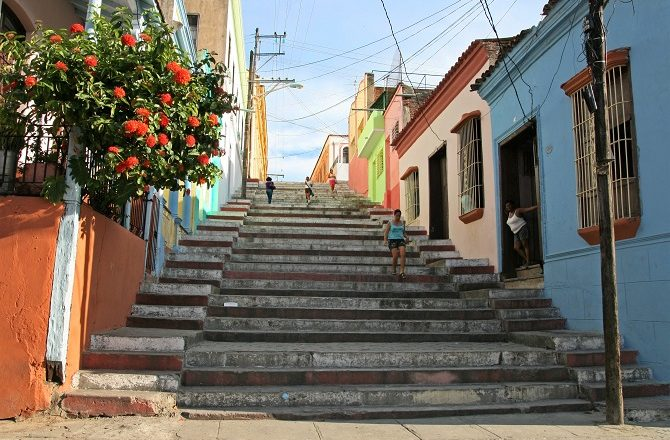 The Spanish Steps in Santiago de Cuba