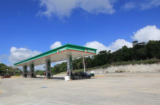 PEMEX petrol station in the Yucatan