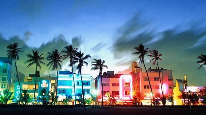 Miami's famous art deco architecture