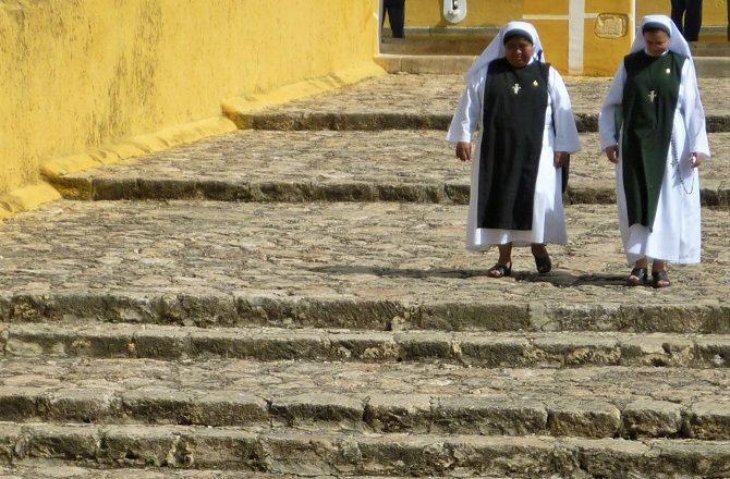 Nuns in Izamal