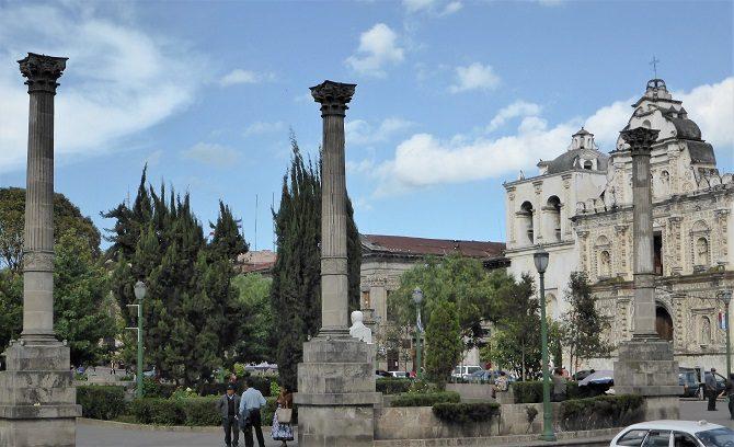 The main square in Quetzaltenango